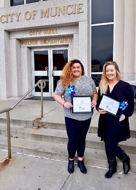 Photo: TRU Harbor Director, Dr. Katrina Mallory, and Assistant Director, Lindsay Price, holding PCA framed appreciation certificate honoring them for enthusiastic support of the ongoing mission of the PCA Council of Delaware County.