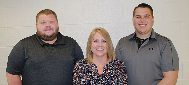 From left to right: Ryan Brand, Jodi Thomas, and Tyler Bowers.